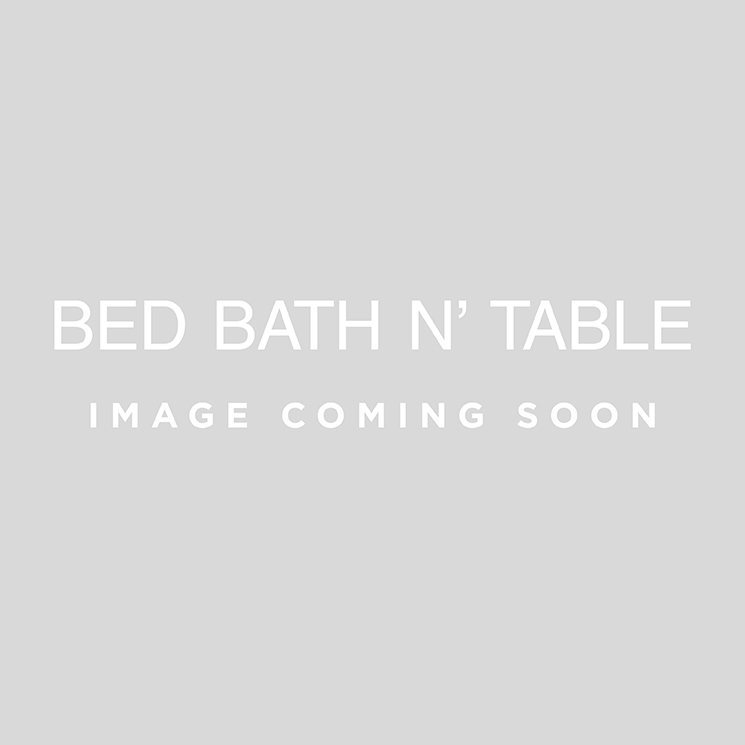 CHEVRON BATH TOWEL & FACE WASHER SET  - DENIM/ WHITE