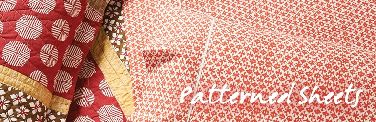 bed sheets pattern. Patterned Sheets Banner Bed Pattern D