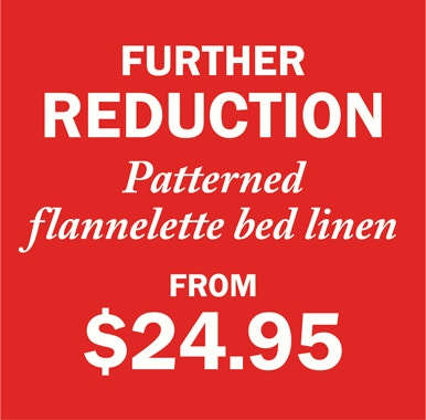 Flannellete further reduced