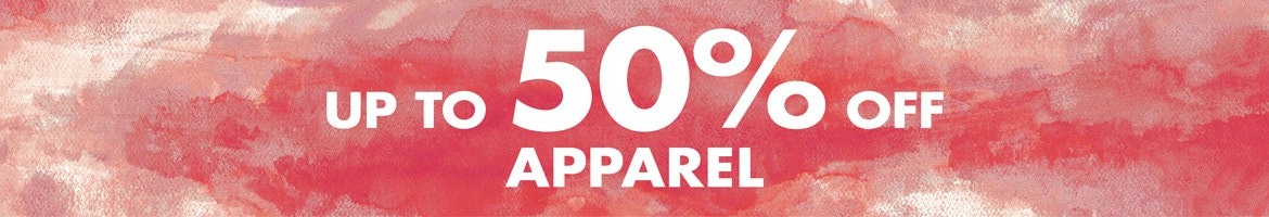 Apparel up to 40% off