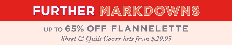 Flannelette 50% Off