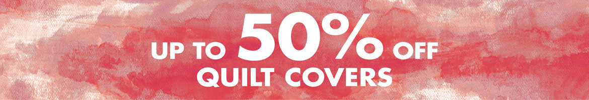 Quilt covers up to 50% off