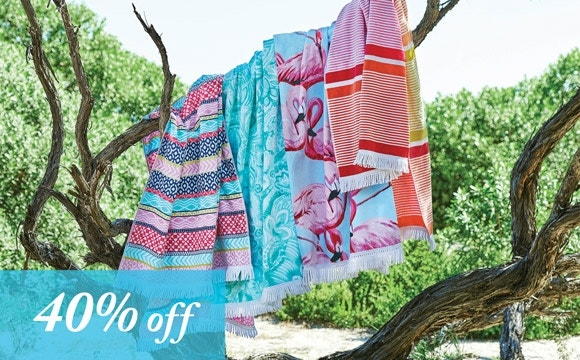 Beach Towels Now 40% off