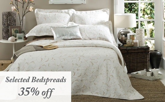 Bedspreads 35% off