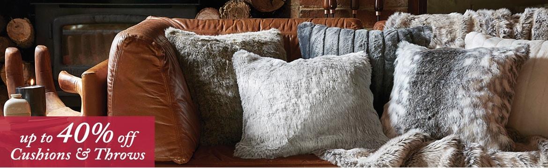>Cushions & Throws