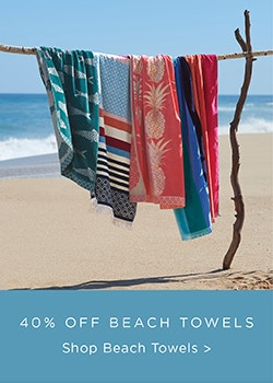 Beach Towels 40% Off