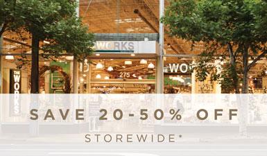 20 - 50% off storewide